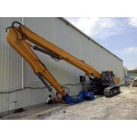 Yellow Color Sheet Pile Driving Machine , Excavator Mounted Sheet Pile Driver Manufactures