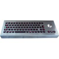 China Desktop movable illuminated metal keyboard with integrated trackball IP65 on sale