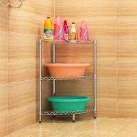 China H302 Height Adjustable Bathroom Shelf Rack , 3 Tier Bathroom Stand For Sundries on sale