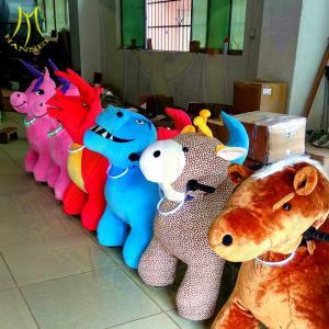 China Hansel stuffed toys on wheels moterized animal motorized animals for sale on sale