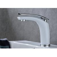 China ROVATE Single Handle Bathroom Faucet , Modern Bathroom Faucets White Painting on sale