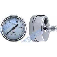 Stainless steel connector welding pressure gauge filled oil with shrink bayonet bezel Manufactures