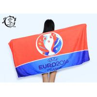 Microfiber Size 30'' x 60'' Europe Cup Logo Beach Towel , Fast Drying Super Absorbent Gym Towel Manufactures