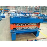 Corrugated and Box Type Roofing Sheet Roll Forming Machine with 75 mm solid shaft Manufactures