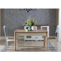 Arabic Style Rectangle Dining Table Furniture Solid Wood Venner Assembly Easily Manufactures