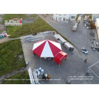 China 100sqm Multi - Sides Red PVC Roof Outdoor Commercial Party Tents VIP Cassette Flooring on sale