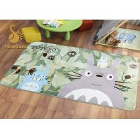 Short Plush Digital 3D Printed Non Slip Area Rugs For Bedroom / Living Room Manufactures