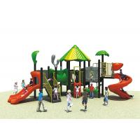 Plastic Outdoor Playground Equipment , Kids Theme Park Commercial Playground Slides Manufactures