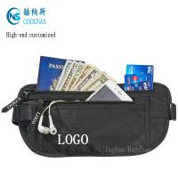 Mens RFID Hidden Ripstop Nylon Money Belt Travel Black Color Manufactures
