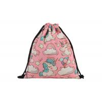 Canvas Drawstring Bag Backpack Embroidery Printing With Your Design For Sale Manufactures