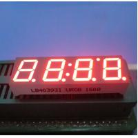 """Ultra Red 0.39"""" Led Clock Display Common Anode 4 Digit 7 Segment For Instrument Panel Manufactures"""