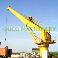High Strength Steel Stiff Arm 25t 20m Marine Cranes For Cargo Lifting Manufactures