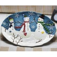 ceramic plate for christmas with favourable price  made in china  with high quality  on buck sale for export Manufactures