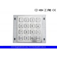 Rugged Panel Mount Kiosk 4 4 Metal Keypad 16 Flat Keys With Pin Connector Manufactures