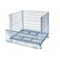 China Heavy-duty rolling stackable wire mesh container with caster on sale