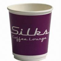 Double Wall Paper Cup, 300gsm+280gsm+18PE, Made of Sun Paper, with Flexo Printing, FDA/SGS Marks