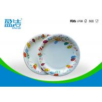 6 Inch Diameter Disposable Paper Plates Printed By Flexo Water Based Ink Manufactures