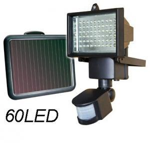 China Outdoor Lighting Solar Power Garden Lawn Light 60LED PIR Body Motion Sensor Solar Floodlights Spotlights Street Light on sale