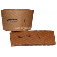 Kraft Paper Coffee Cup Sleeves Custom Print For Coffee Cups Flexo Print Manufactures