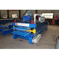 Trapezoid / Corrugated Roof Sheet Making Machine Double Deck Roll Forming Machine