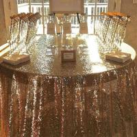 China Hot sales high quality glitter 72 inch round table cloth sequin for hotel wedding on sale