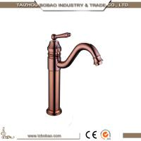 Antique style rose gold basin water mixer, red gold basin faucet in antique color Manufactures