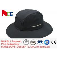 Summer Camping Climbing Fisherman Outdoor Boonie Hat / ACE Black Bucket Hat Manufactures