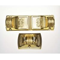 PP Recycled Material Coffin Ornaments Plastic Coffin Corner 8# With Metal Rod Manufactures