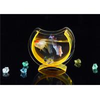 China Small Acrylic Fish Tank / Desktop Fish Bowl With Cololful Stones on sale