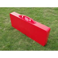 Luxury Durable Easy Cleaning Foldable Camping Table And Chairs In Plastic Red Manufactures