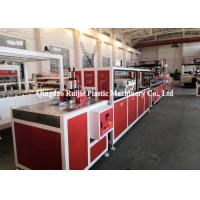 China Sound Insulation PVC Profile Production Line UPVC Solid Door Frame Making Machine on sale