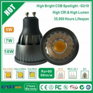 5W GU10 COB Spotlight (High Bright) - Warm White Manufactures