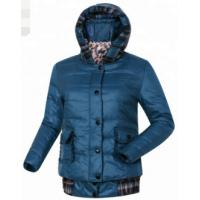 China Womens Detachable Down Jacket With Large Hood Country Style Windproof on sale