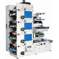 Small Narrow Web Adhesive Label Fexo Printing Press Machine With Three Die Cutting and Slitting Stations Manufactures