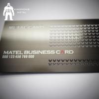 Metal Card Factory Supply Custom Logo Gun Plated Stainless Steel Metal Business Card Manufactures
