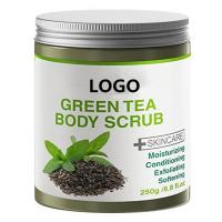 Whitening Smooth Green Tea Body Scrub Blackhead Remover / Whitehead Exfoliating Manufactures