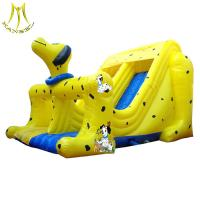 China Hansel   inflatable bouncer children's play centre inflatable slide outdoor play equipments on sale
