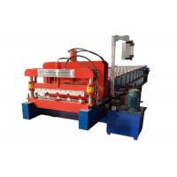 China High Rib Glazed Tile Roll Forming Machine Cutting Mode Hydraulic Guide Column on sale