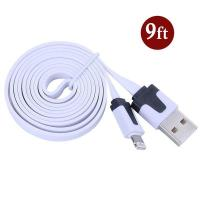 Dual Color Noodle USB Cable Sync Flat Data Charger Cable for iPhone 2G3G4G4S iPad white Manufactures