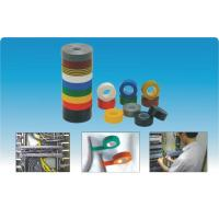Yellow / Black / White Self-Adhesive Tapes Insulation PVC Electrical Tapes Manufactures