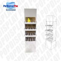 4 Shelf 1 Poster Cardboard Floor Display Stand , Floor Display Racks With Dividers Manufactures