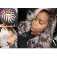 "Body Wave Virgin Brazilian Ombre Grey Hair Weft Can Be Curled Well 12"" - 26"" Manufactures"