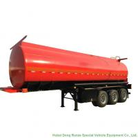 Tri Axle Stainless Steel Tank Semi Trailer For Palm Oil / Crude Fuel / Petrol Oil Delivery Manufactures