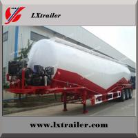 V / W Type Cement Trailer , Truck Powder Bulk Cement Tank Semi Trailer Manufactures