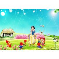Eco Friendly Bamboo Fiber 3D Embossed Wall Panels Snow White Seven Dwarfs