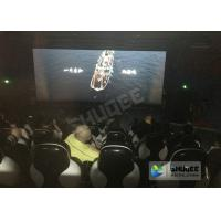 Red / Black 5D Movie Theater For 5 Persons With Fiber Glass Material Manufactures