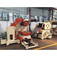 China NC Metal Coil Hydraulic Expansion Decoiler Straightener Feeder Press Line Width 800 Mm on sale