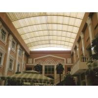 Architectural Tension Shade System Skylight Motor Heat Resistance Fiberglass Fabric Manufactures