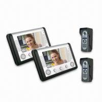 Video Door Phone Kits with 7-inch TFT LCD Monitor, Two Door Stations and Two Monitor Receivers Manufactures