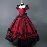 Medieval Dress Wholesale XXS to XXXL Custom Made Red Puff Sleeves ROCOCO Ball Gown Gothic Medieval Victorian Dress Manufactures
